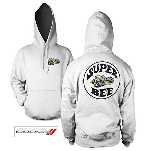 officiellement-marchandises-sous-licence-dodge-super-bee-hoodie-blanc-x-large