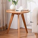 5 IN 1 TABLE XIAOYAN Beistelltisch Couchtisch Tee Tisch Massivholz Telefontisch Wohnzimmer Sofa Beistelltisch Couchtisch-50 * 50 cm Mehrzweck (Farbe : Holzfarbe)