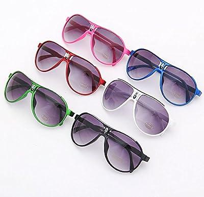 frixie (TM) moda niños gafas de sol gafas de sol para niños 1pieza anti-UV bebé Sun-shading gafas al aire libre cool azúcar Color