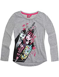 Girls Official Monster High Top Kids Long Sleeve T Shirt New Age 8 10 12 14 Years