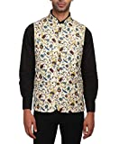 Wintage Men's Imported Rayon Tailored Fit Printed Party/Festive Indian Nehru Jacket Vest Waistcoat : XXX-Large
