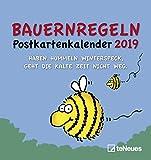 Bauernregeln 2019 - Postkartenkalender, Terminkalender, Wandkalender 2019  -  16 x 17 cm
