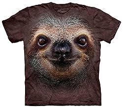 T-Shirt Sloth Face braun | S