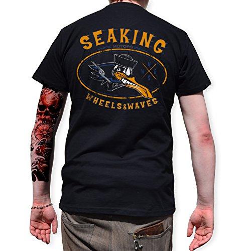 T-Shirt Back Print, Rock'n'Roll, Motor, Classic, Seaking