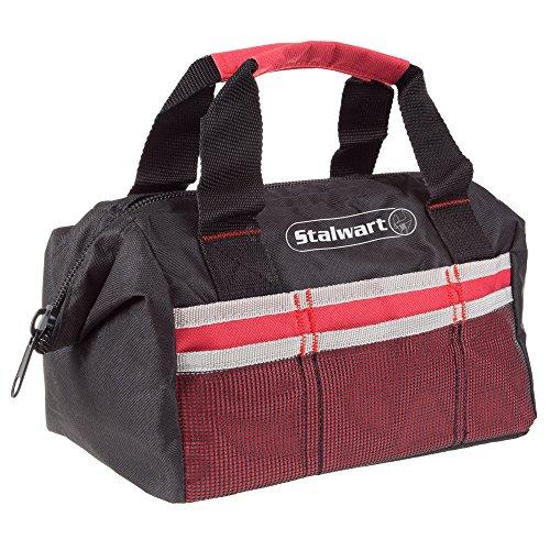 weiche Seiten Werkzeug Tasche mit wide-mouth storage- Langlebig 30,5cm KOMPAKT Tasche für mit Taschen für Werkzeuge und Organisation von treues (rot)