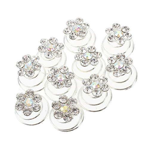 TOOGOO(R) 10X Spiral diamant torsion Mariee Barrette epingle a cheveux