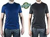 Alpin Loacker Merino T-Shirt Merino-Wolle Sportshirt Herren   wenig Schweiß + Lange trocken   Funktionsshirt Unterwäsche   l blau