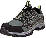 GUGGEN Mountain Herren Trekkingschuhe Wanderschuhe Wanderhalbschuhe Wasserdicht Outdoor-Schuhe Walkingschuhe T003 Farbe Grau EU 45