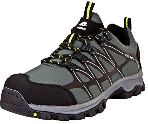 GUGGEN Mountain Herren Trekkingschuhe Wanderschuhe Wanderhalbschuhe Wasserdicht Outdoor-Schuhe Walkingschuhe T003 Farbe Grau EU 44