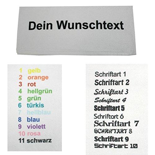 S.B.J - Sportland Microfaser Duschtuch Weiss mit Namen Oder Wunschtext Bedruckt, 70 x 140 cm