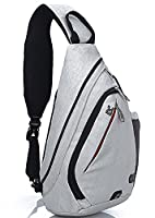 FreeMaster Sport Rucksack Shoulder Backpack Sling Chest Hiking Bag Cross Body Bags for Camping Gym Cycling Biking School Bag Small Backpack (White)
