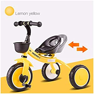 GSDZSY - Children kids Tricycle Foldable, Handlebar steering limit, 1-3 years old   11