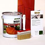 WOCA Terrassenöl Bangkirai Set mit Flächenstreicher und Anleitung von bioraum