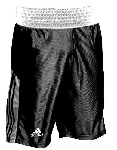 Adidas - Short da allenamento con fascia elastica alta in vita, taglia S-XXL, nero (nero), S