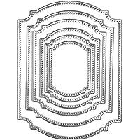 Gosear 6 Piezas Corte de Troquel para Scrapbook, Acero al Carbono Ventana Marco Forma Corte Die Plantilla Plantillas Molde para DIY álbum de Recuerdos Tarjeta de Papel