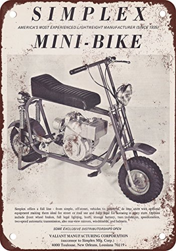 metal Signs 1969Simplex Mini-Bike Vintage Look Reproduktion Metall blechschild 20,3x 30,5cm