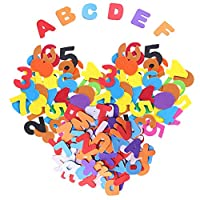 Feelava 400 Pcs Foam Stickers Letters and Numbers Self-adhesive Mini Assorted Colors and Sizes Craft Foam Pad EVA Stickers for Kids DIY Craft Embellishment