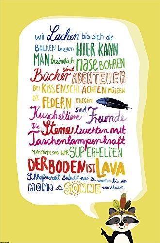 Close Up Kinderzimmer-Regeln Poster Premium Kinder-Plakat 91,5 x 61 cm