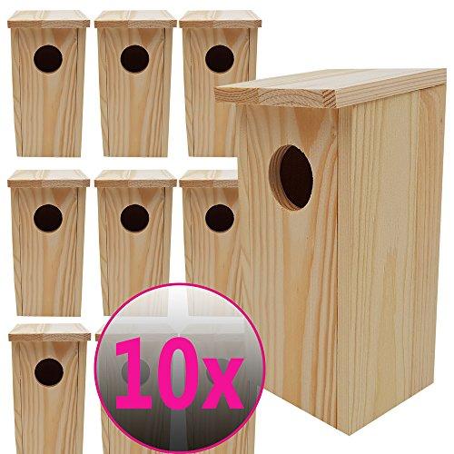 Nistkasten 22x10,5x10,5cm aus Holz perfekt für Meisen Kohlmeisen Kleiber Rotschwänzchen und weitere