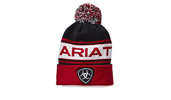1c9fba258f5 Ariat Team Beanie Womens Hat One Size Navy Red  Amazon.co.uk  Sports    Outdoors