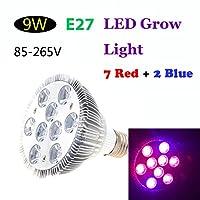 E27 9W LED النبات الزراعية مصباح 7 أحمر 2 أزرق توفير الطاقة لداخلي النباتات الزهور النمو الدفيئة النباتية 85-265 فولت إضاءة احترافية