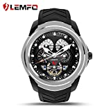 LEMFO LF17 Android 5.1 Smart Watch RAM 512MB ROM 4GB Bluetooth Smartwatch Support Heart Rate Monitor GPS Wifi SIM TF Card ( Silver)