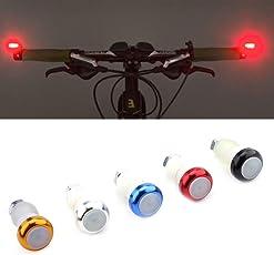 VGEBY 2Pcs Indicatore di Direzione Grips in Lega di Alluminio per Bicicletta Manopola Lampada di Segnale di Avvertimento di Sicurezza