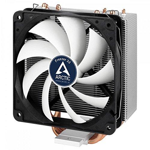 Arctic Freezer 33 - Semi-passiver Tower CPU Luftkühler, Prozessorlüfter für Intel und AMD Sockel bis 320 Watt Kühlleistung, Cooler mit 120 mm PWM Lüfter - Leise und Effizient (Lga-2011-kühler)