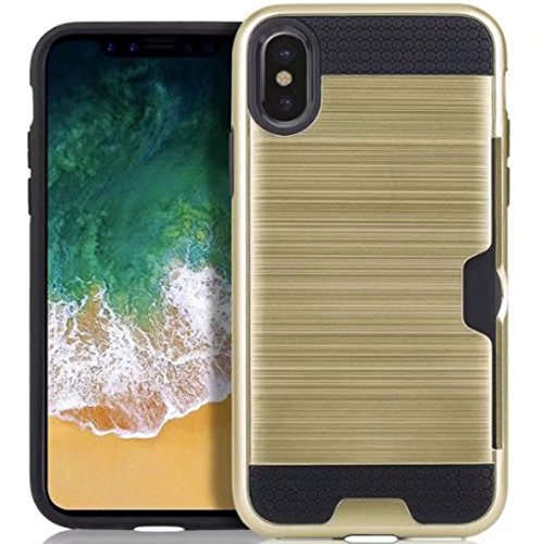 iPhone 7 8 Armor Case, Very Light Slim Lines Style/Convenient IC Card Slot, WEIFA 2017 Newest Super Cool Anti-Drop Protection CellPhone Cover Case For iPhone7 8 White !Gold
