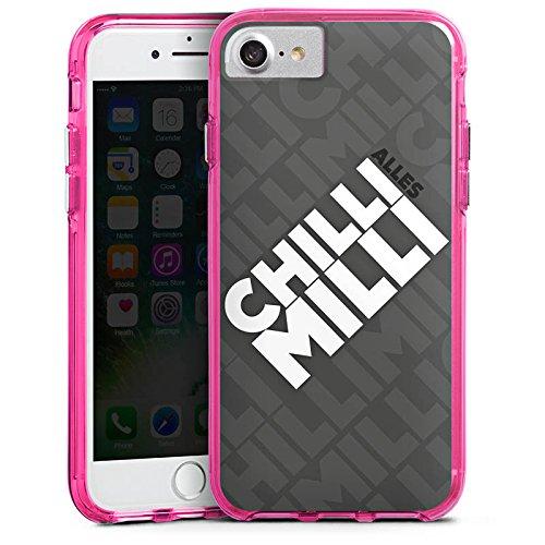 Apple iPhone X Silikon Hülle Case Schutzhülle LPmitKev Fanartikel Merchandise Alles Chilli Milli Grau Bumper Case transparent pink