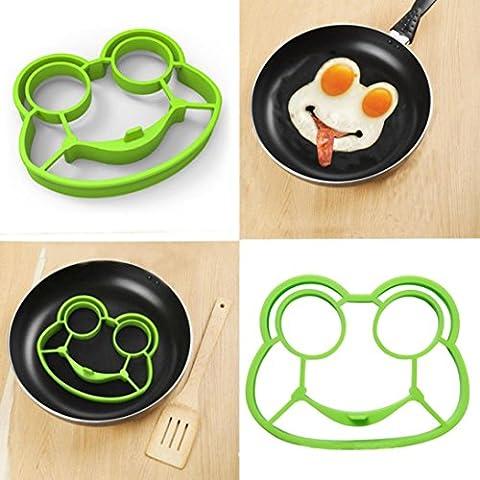 Fried Egg Pancake Formen, goodculler Silikon Form Spiegeleier, Frosch Shaper Frühstück Küche Kochen Werkzeug