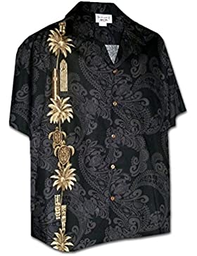 Pacific Legend | Original Camisa Hawaiana | Caballeros | S - 4XL | Manga Corta | Bolsillo Delantero | Estampado...