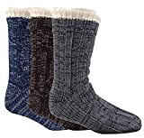 Insignia Herren Gemütliche, Weiche Wärme Hausschuh Lounge-Socken Gripper 2 Schichten 6-11 - Alle 3 Farben, 6-11
