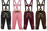 German Wear Damen Trachten Kniebundhose Jeans Hose kostüme mit Hosenträgern in der 4X Farben (Bild: Amazon.de)