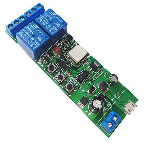 WLAN-Relais Modul funktioniert mit Alexa/Google Home/Sonoff/Ewelink/IFTTT, WiFi-Schalter für DIY Smart Home Geräte - Garagentor, Licht, Lüfter (USB DC 5V Einschalten) (ST-DC2)