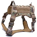 XFC-DOG-E, wasserdichte Militärhundeweste Taktische Hundegeschirr Jacke Nylon Molle Weste Service Hundetraining Kampfweste Hund Jagd Kleidung (Color : Cp, Size : L)