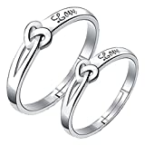 #3: 19 Likes 925 Silver Adjustable Lover Heart Metal Ring For Couple