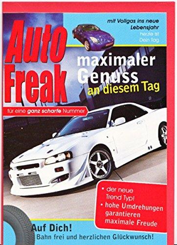 Geburtstagskarte Herren Auto Freak