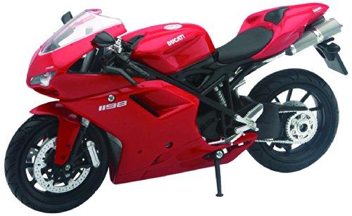 Modell-Motorrad Ducati 1198, rot, Modell Maßstab 1:12(farblichsortiert) Ducati Motorrad Spielzeug