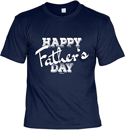 Vatertags/Fun-Shirt/lustigeSprüche/Papa-Spaß-Shirt/Väter-Shirt: Happy Father´s day geniales Geschenk Navyblau