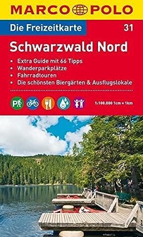 MARCO POLO Freizeitkarte Schwarzwald Nord 1:100.000 (Wolken Atlas)
