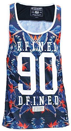 Gifted-Heroes-Camiseta-de-tirantes-Floral-Cuello-redondo-para-hombre-multicolor-Hawaiian-All-Over-Print-XX-Large