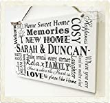 Wooden Plaque NEW HOME Gift instead of card PERSONALISED Sign Keepsake Gift W58