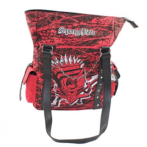 b - Einkaufstasche Kuriertasche Tasche Einkaufen Schule (Spongebob Geschenk-taschen)