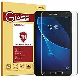 OMOTON Samsung Galaxy Tab A 7.0 Inches Protector de Pantalla Vidrio Templado Protector de Pantalla con[9H Dureza] [Alta Definicion][HD ultra delgado]