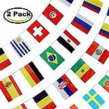 2018 FIFA World Cup 32 Teams bandera de cuerda, banderines de fútbol, decoración para barras deportivas, eventos de fiesta, gran apertura