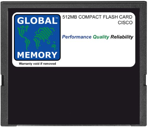 512mb Compactflash-flash Memory Card (GLOBAL MEMORY 512MB Compact Flash Card Speicher für Cisco Catalyst 6500Series Switches & 7600Series ROUTERN 720RSP (mem-c6K-cptfl512m))