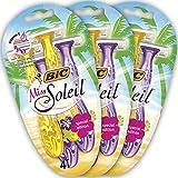BIC Miss Soleil Special Edition Damen Nassrasierer Set, 3 Klingen Einwegrasierer...