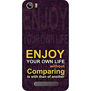 T & M Printed Case for Micromax Canvas Juice Q461