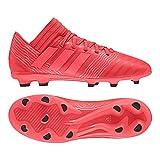 adidas Nemeziz 17.3 FG, Chaussures de Football Mixte Enfant, Rouge Reacor/Redzes/Cblack, 34 EU